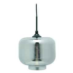 Nuevo Charles Smoked Grey and Black Mini-Pendant Light