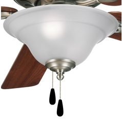 ceiling fan light kit. progress light kit with white glass in antique nickel finish ceiling fan r