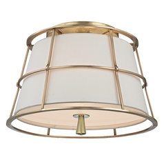 Hudson Valley Lighting Savona Aged Brass Semi-Flushmount Light