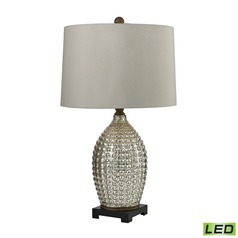 Dimond Lighting Antique Mercury, Bronze LED Table Lamp with Drum Shade