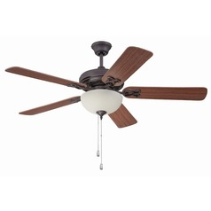 Ellington Majestic Oiled Bronze Gilded Ceiling Fan with Light