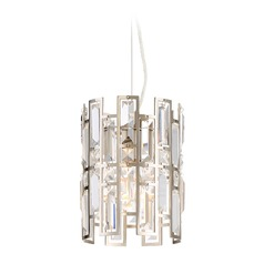 Designers Fountain West 65th Satin Platinum Mini-Pendant Light
