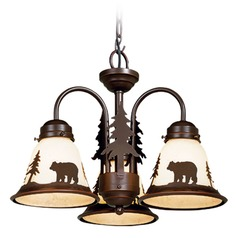 Bozeman Burnished Bronze Mini-Chandelier by Vaxcel Lighting