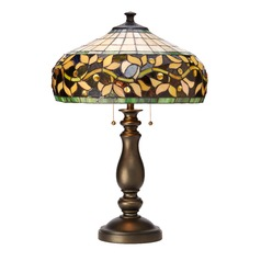 Design Classics Lighting Tiffany Table Lamp with Vine Design 1616 TB