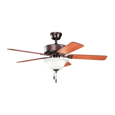 Kichler Lighting Renew Select Oil Brushed Bronze Ceiling Fan with Light