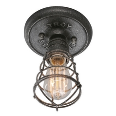 Troy Lighting Conduit Old Silver Semi-Flushmount Light