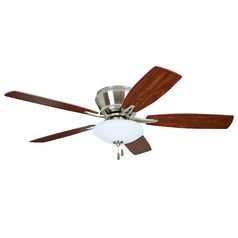 Craftmade Atmos Brushed Polished Nickel Ceiling Fan with Light