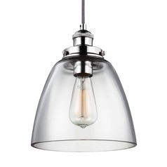 Feiss Baskin Polished Nickel Mini-Pendant Light