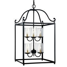 Feiss 2-Tier 6-Light Mini Chandelier in Antique Forged Iron