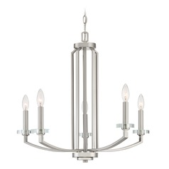 Transitional Chandelier Brushed Nickel Transit by Quoizel Lighting