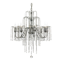 Transitional Crystal Chandelier with Eight Lights