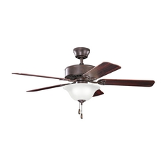 Kichler Lighting Renew Select Tannery Bronze Ceiling Fan with Light