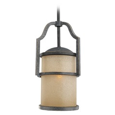 Sea Gull Lighting Roslyn Flemish Bronze Mini-Pendant Light with Cylindrical Shade