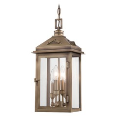 Minka Lighting Eastbury Colonial Brass Outdoor Hanging Light
