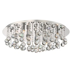 Quoizel Bordeaux with Clear Crystal Polished Chrome Flushmount Light