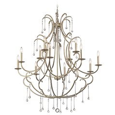 Kichler Shelsley 2-Tier 12-Light Chandelier in Sterling Gold