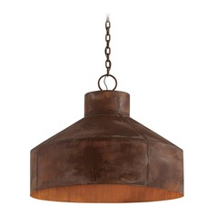 Troy Lighting Rise & Shine Rust Patina Pendant Light with Bowl / Dome Shade