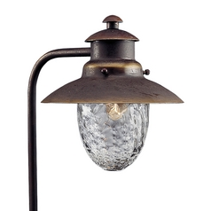 Progress Path Light with Clear Glass in Antique Bronze Finish