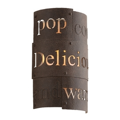 Troy Lighting Dine N Dash Salvaged Rust with Parisian Finish Interior Sconce