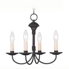 Livex Lighting Heritage Black Mini-Chandelier