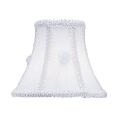 Livex Lighting S209 White Victorian & Lace Bell Lamp Shade with Clip-On Assembly