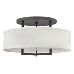 Hinkley Lighting Hampton Buckeye Bronze LED Semi-Flushmount Light