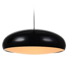 Avenue Lighting Doheny Ave. Black Pendant Light with Bowl / Dome Shade