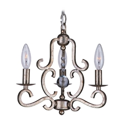 Mini-Chandelier in Olde Silver Finish