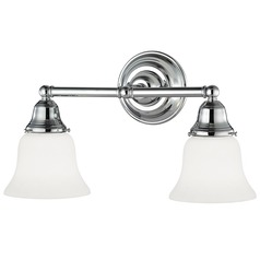 Design Classics Lighting Two-Light Bathroom Light 672-26/G9110 KIT
