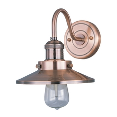 Sconce Wall Light in Antique Copper Finish