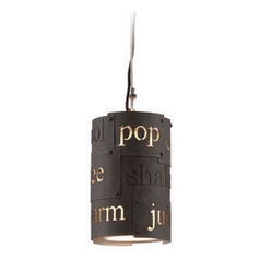 Troy Lighting Dine N Dash Salvaged Rust with Parisian Finish Interior Mini-Pendant Light with Cylin