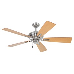 Ellington Boulevard Brushed Polished Nickel Ceiling Fan Without Light