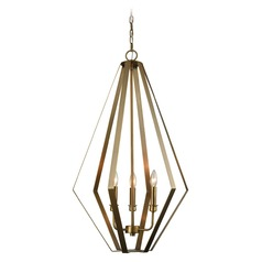 Dimond Headline Antique Silver Leaf Pendant Light