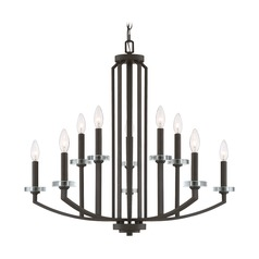 Transitional Chandelier Bronze Transit by Quoizel Lighting