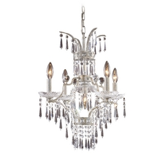 Elk Lighting Crystal Mini-Chandelier in Sunset Silver Finish 4055/4+1