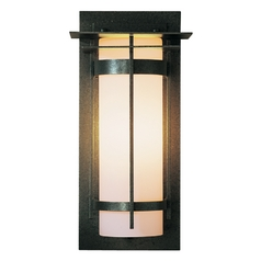 Outdoor Wall Light with Opal Glass - 16-1/4 Inches Tall
