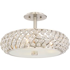 Quoizel Lighting Platinum Collection Legion Brushed Nickel Semi-Flushmount Light