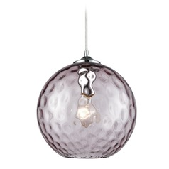 Elk Lighting Watersphere Polished Chrome Mini-Pendant Light with Globe Shade