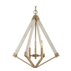 Mid-Century Modern Pendant Light Brass View Point by Quoizel Lighting