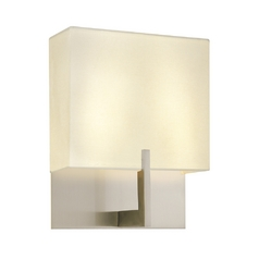 Modern Sconce Wall Lights in Satin Nickel Finish