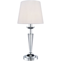 Lite Source Lighting Vallerie Chrome Table Lamp with Empire Shade