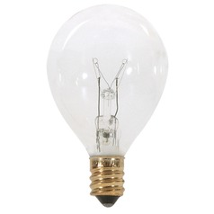Incandescent Globe Light Bulb Candelabra Base 120V by Satco
