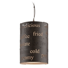 Troy Lighting Dine N Dash Salvaged Rust with Parisian Finish Interior Pendant Light with Cylindrica