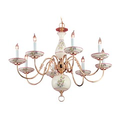 Crystorama Hot Deal 8-Light Chandelier in Polished Brass
