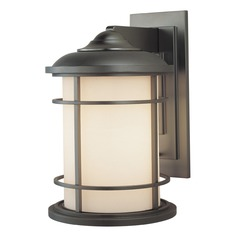 Feiss Lighting Lighthouse Burnished Bronze LED Outdoor Wall Light