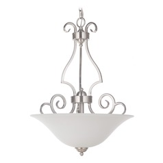 Craftmade Lighting Cecilia Brushed Satin Nickel Pendant Light with Bowl / Dome Shade