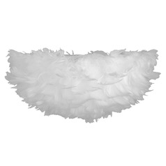 White Feather Abstract Flushmount Light
