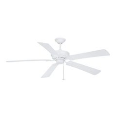 Ceiling Fan Without Light in Matte White Finish