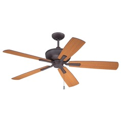 Ellington Dunbar Oiled Bronze Gilded Ceiling Fan Without Light