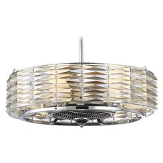 Savoy House Lighting Taurus Polished Chrome Ceiling Fan with Light